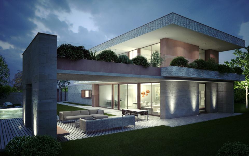 Villa eurosia case di paolo grassi for Ville moderne con vetrate